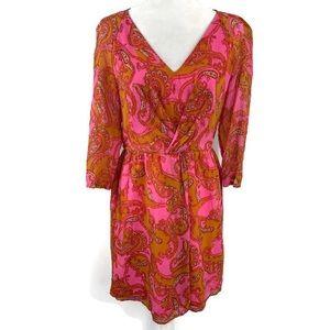 Madewell Dresses - Madewell Broadway & Broome Pink Paisley Silk Dress